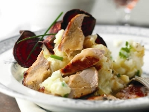 Pheasant with Parsnip and Apple Mash
